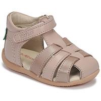 Schuhe Mädchen Sandalen / Sandaletten Kickers BIGFLO-2 Rose / Mettalfarben