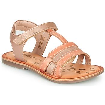 Schuhe Mädchen Sandalen / Sandaletten Kickers DIAMANTO Rose / Orange