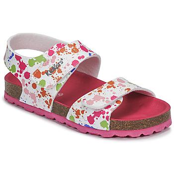 Schuhe Mädchen Sandalen / Sandaletten Kickers SUMMERKRO Weiss / Multicolor
