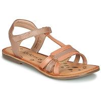 Schuhe Mädchen Sandalen / Sandaletten Kickers DIAMANTO Orange / Rose
