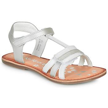 Schuhe Mädchen Sandalen / Sandaletten Kickers DIAMANTO Weiss