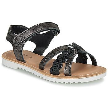 Schuhe Mädchen Sandalen / Sandaletten Kickers SHARKKY Schwarz