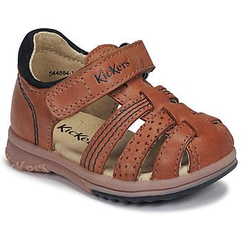 Schuhe Jungen Sandalen / Sandaletten Kickers PLATIBACK Camel