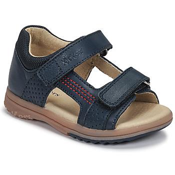 Schuhe Jungen Sandalen / Sandaletten Kickers PLAZABI Marine