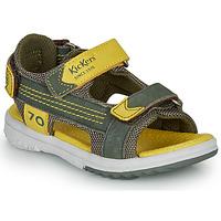 Schuhe Jungen Sandalen / Sandaletten Kickers PLANE Kaki / Gelb
