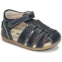 Schuhe Kinder Sandalen / Sandaletten Kickers BIGFLO-3 Marine