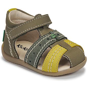Schuhe Kinder Sandalen / Sandaletten Kickers BIGBAZAR-3 Grün