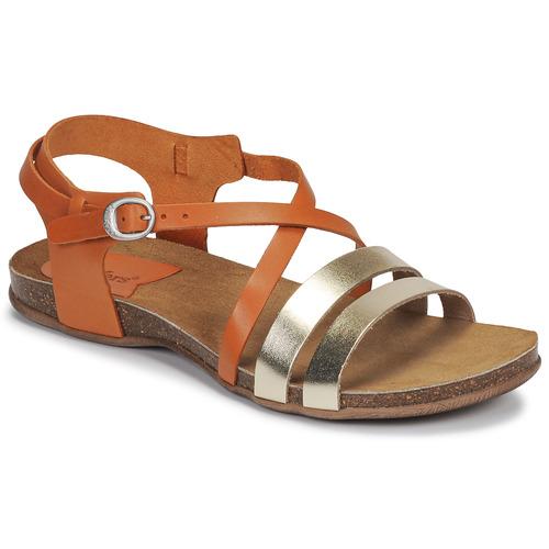 Schuhe Damen Sandalen / Sandaletten Kickers ANATOMIUM Camel / Gold