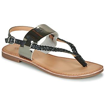 Schuhe Damen Sandalen / Sandaletten Kickers ESTHERA Schwarz / Silbern