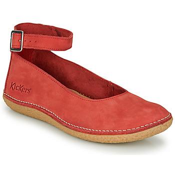 Schuhe Damen Ballerinas Kickers HONNORA Rot