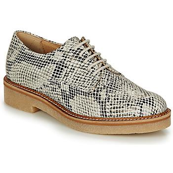 Schuhe Damen Derby-Schuhe Kickers OXFORK Weiss / Schwarz