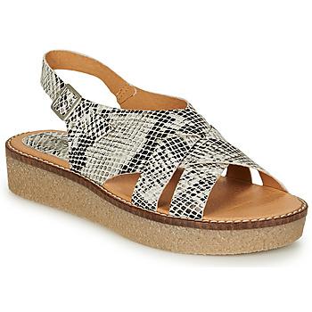 Schuhe Damen Sandalen / Sandaletten Kickers VICTORYNE Weiss / Schwarz