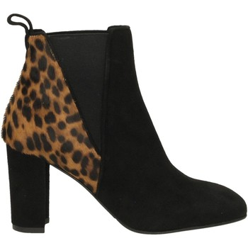 Schuhe Damen Low Boots Albano CAMOSCIO nero