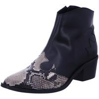 Schuhe Damen Low Boots Dna Stiefeletten -Western-Stiefelette 514514 beige/black schwarz