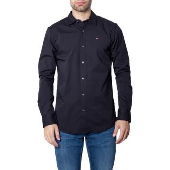 Kleidung Herren Langärmelige Hemden Tommy Hilfiger DM0DM04405 Nero