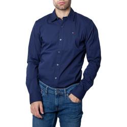 Kleidung Herren Langärmelige Hemden Tommy Hilfiger DM0DM04405 Blu