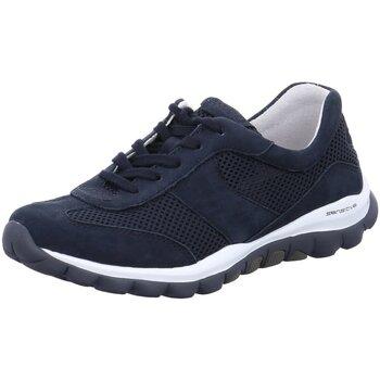 Schuhe Damen Sneaker Low Rollingsoft By Gabor Schnuerschuhe Gabor Comfort Schuh 26.966-46 blau