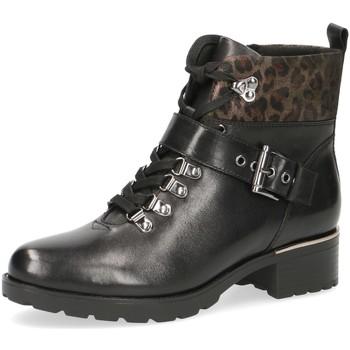 Schuhe Damen Boots Caprice Stiefeletten -gold-dunkelbraun 9-25224-23-089 schwarz