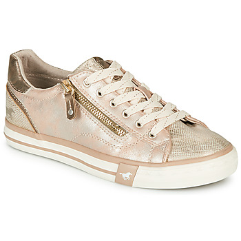 Schuhe Damen Sneaker Low Mustang  Gold