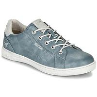 Schuhe Damen Sneaker Low Mustang 1349301-875 Blau