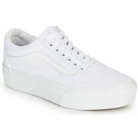 Schuhe Damen Sneaker Low Vans Old Skool Platform Weiss