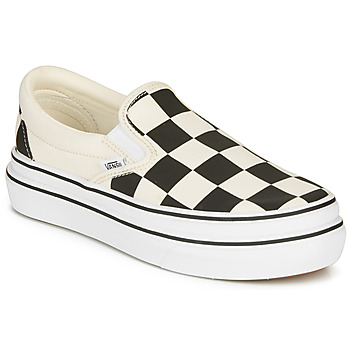 Schuhe Damen Slip on Vans SUPER COMFYCUSH SLIP-ON Weiss / Schwarz
