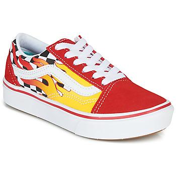 Schuhe Jungen Sneaker Low Vans COMFYCUSH OLD SKOOL Rot / Gelb
