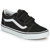 Schuhe Kinder Sneaker Low Vans Old Skool V Schwarz / Weiss