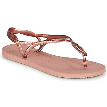 Schuhe Damen Zehensandalen Havaianas LUNA Rose / Gold