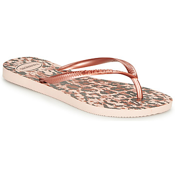 Schuhe Damen Zehensandalen Havaianas SLIM ANIMALS Rose / Gold