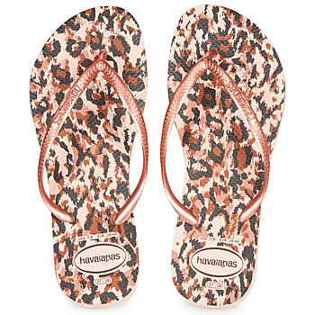 Schuhe Damen Zehensandalen Havaianas SLIM ANIMALS Rose / Gold