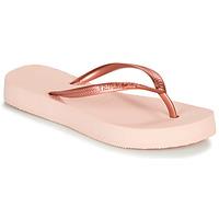 Schuhe Damen Zehensandalen Havaianas SLIM FLATFORM Rose