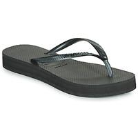 Schuhe Damen Zehensandalen Havaianas SLIM FLATFORM Schwarz