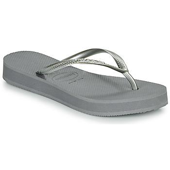 Schuhe Damen Zehensandalen Havaianas SLIM FLATFORM Grau