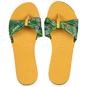 Schuhe Damen Zehensandalen Havaianas YOU SAINT TROPEZ Gelb / Grün