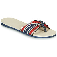 Schuhe Damen Zehensandalen Havaianas YOU ST. TROPEZ FITA Beige / Marine / Rot