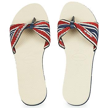 Schuhe Damen Zehensandalen Havaianas YOU SAINT TROPEZ FITA Beige / Marine / Rot