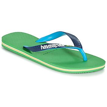 Schuhe Zehensandalen Havaianas BRASIL MIX Grün / Blau