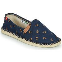 Schuhe Leinen-Pantoletten mit gefloch Havaianas ORIGINE BEACH Marine