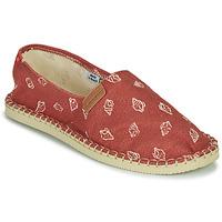 Schuhe Leinen-Pantoletten mit gefloch Havaianas ORIGINE BEACH Rot