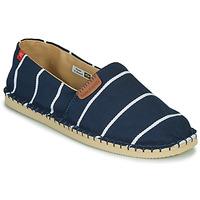 Schuhe Leinen-Pantoletten mit gefloch Havaianas ORIGINE PREMIUM III Marine / Weiss