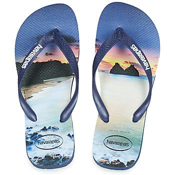 Schuhe Herren Zehensandalen Havaianas HYPE Marine