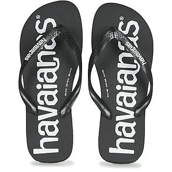 Schuhe Herren Zehensandalen Havaianas TOP LOGOMANIA Schwarz