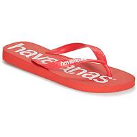 Schuhe Herren Zehensandalen Havaianas TOP LOGOMANIA Rot