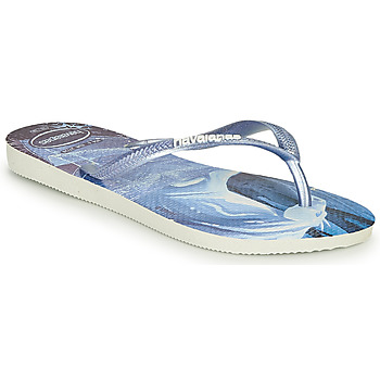 Schuhe Mädchen Zehensandalen Havaianas KIDS SLIM FROZEN Blau