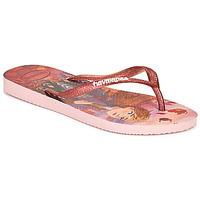 Schuhe Mädchen Zehensandalen Havaianas KIDS SLIM FROZEN Rose