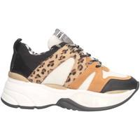 Schuhe Damen Sneaker Low Meline VE 402 NERO/MACULATO Sneaker Frau schwarz schwarz