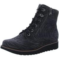 Schuhe Damen Boots Waldläufer Stiefeletten OKAPI VELOUR 926802 200 971 grau