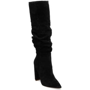 Schuhe Damen Klassische Stiefel Steve Madden SMSSWAGGER-BLK Stiefel Frau schwarz schwarz