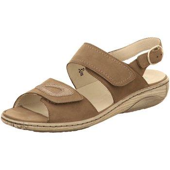Schuhe Damen Sandalen / Sandaletten Waldläufer Sandaletten Garda 210007788-088 braun